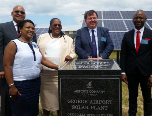 Aeroporto alimentato a energia solare in Sudafrica